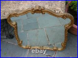 Vintage Ornate Antique Gold Gilt Framed Mirror By Astonea Superior Products