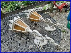 Vintage Ornate Art Deco CAST AL Wall Light SCONCE Lamp Outdoor FIXTURES