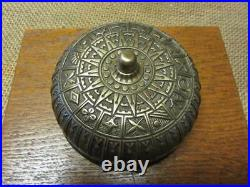 Vintage Ornate Brass Bell Antique Old Iron Box Door Boxing Fire Bells 9844
