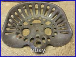 Vintage Ornate Cast Iron Tractor Seat Antique Farm Tools Metal Equipment 4645