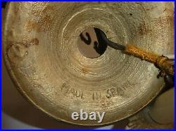 Vintage Ornate Gilt Bronze Ceiling Fixture Light Chandelier 6 Arms Made In Spain