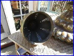 Vintage Ornate Large Brass Brazier Turkish Middle Eastern Censer Incense Burner