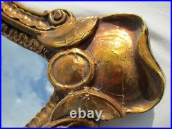 Vintage Ornate Large Mirror 20x31 Wall Hanging Rococo Style Wood Gold Gesso VTG