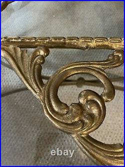 Vintage Rare 3 solid Brass Large Corbels Heavy Ornate Shelving Brackets 10.25