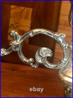 Vintage Royal Danish Sterling Silver 925 Ornate Candlestick