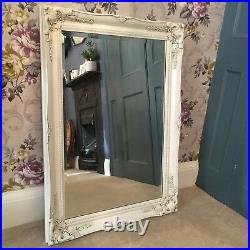 Vintage Style Large 3FT FRENCH Ornate MIRROR Ivory Gold Black White or Silver