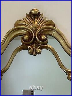 Vintage Syroco Ornate Gold Wall Mirror Hollywood Regency Gorgeous