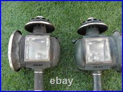 Vintage antique Ornate Coach Lantern Lamp Brass Outdoor Sconces Carriage old