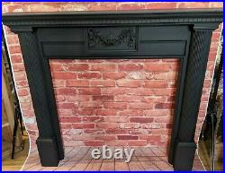 Vintage ornate black fireplace antique cast iron style Painted Fire Surround