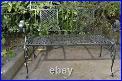 Vintage ornate wrought iron garden bench. Can deliver