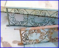 Vintage reclaim salvaged wrought iron ornate patio garden balustrade fencing