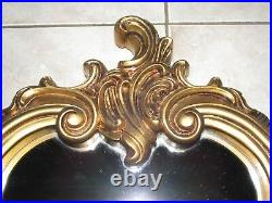 Vtg Large Ornate Wall MirrorHollywood Regency ELEGANT