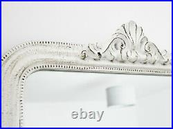 White Ornate Antique French Luxury Rococo Vintage Mirror Valentine Wedding